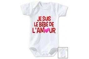 Body de bébé je suis le bébé de l'amour