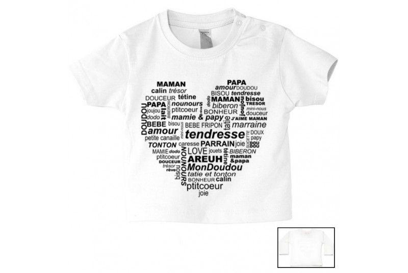 Tee-shirt de bébé je suis le bébé de l amour. Loading zoom cb371eea5b3