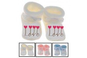 Chaussons de bébé je suis le bébé de l'amour