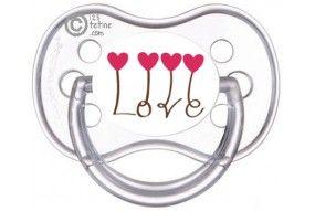Tétine de bébé je suis le bébé de l'amour