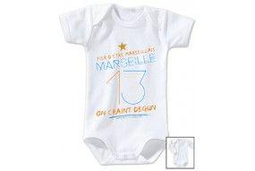 Body de bébé fier d'être Marseillais on craint Degun