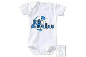 Body de bébé baby Marseillais foot