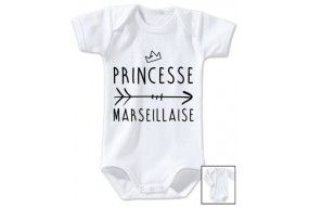 Body de bébé princesse Marseillaise