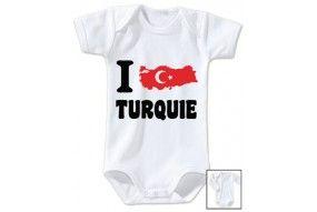 Body de bébé i love Turquie bold