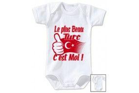 Body de bébé la plus beau Turc c'est moi