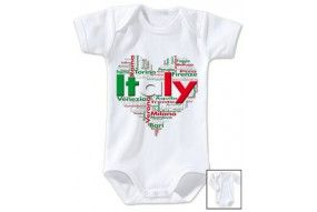 Body de bébé love Italy