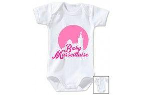 Body de bébé baby Marseillaise