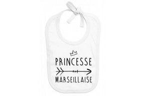 Bavoir de bébé princesse Marseillaise