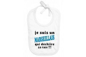 Bavoir de bébé je suis un Marseillais qui déchiire sa race