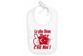 Bavoir de bébé  la plus beau Turc c'est moi
