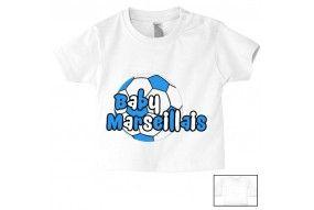 Tee-shirt de bébé baby Marseillais foot