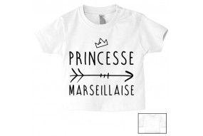 Tee-shirt de bébé princesse Marseillaise
