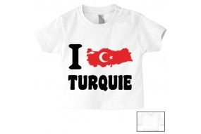 Tee-shirt de bébé i love Turquie bold