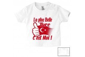 Tee-shirt de bébé la plus belle Turc c'est moi