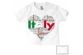 Tee-shirt de bébé love Italy