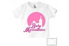 Tee-shirt de bébé baby Marseillaise