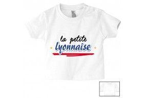 Tee-shirt de bébé la petite Lyonnaise bold