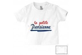 Tee-shirt de bébé la petite Parisienne bold