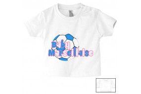 Tee-shirt de bébé baby Marseillaise foot