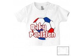 Tee-shirt de bébé baby Parisien foot
