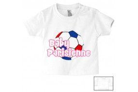 Tee-shirt de bébé baby Parisienne foot