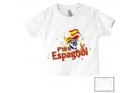 Tee-shirt de bébé p'tit Espagnol