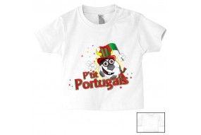 Tee-shirt de bébé p'tit Portugais