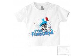 Tee-shirt de bébé p'tite Française