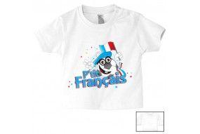 Tee-shirt de bébé p'tit Français