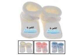 Chaussons de bébé le petit Marseillais bold