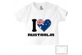 Tee-shirt de bébé bonne nuit je t'aime