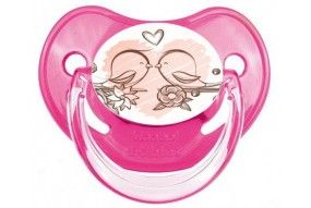 Tétine bébé flammant rose