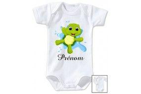 Body de bébé tortue personnalisé