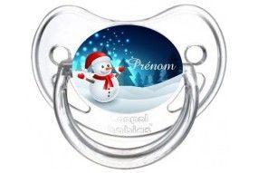 Tétine de bébé Bonhomme de neige personnalisée
