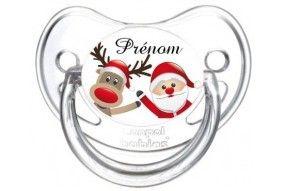 Tétine de bébé Père Noël Rudolph