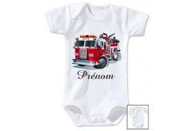 Body de bébé train rouge personnalisée