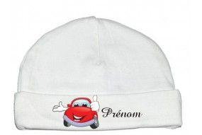 Bonnet de bébé train rouge personnalisée