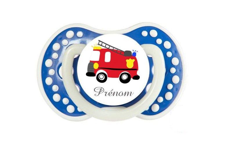 Tetine De Bebe Dessin Camion Pompier Personnalisee