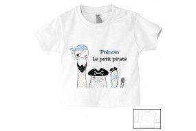 Tee-shirt de bébé équipage le petit pirate personnalisée