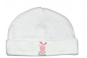 Bonnet de bébé château rose personnalisée