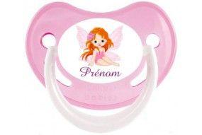 Tétine de bébé château rose personnalisée