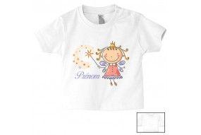 Tee-shirt de bébé château rose personnalisée