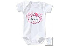 Body de bébé château rose personnalisée
