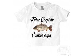 Tee-shirt de bébé futur carpiste