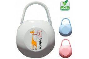 Boite à tétine badminton lapin crétin personnalisée