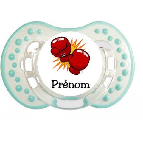 Tétine de bébé badminton lapin crétin personnalisée