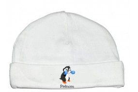 Bonnet de bébé badminton lapin crétin personnalisée