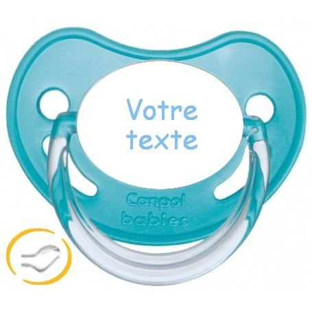 Tétine personnalisée Fairy Tales turquoise silicone