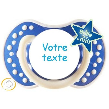 Tétine personnalisée Night and day marine silicone