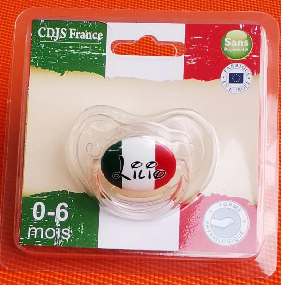 Tétine de bébé par blister Italie personnalisée